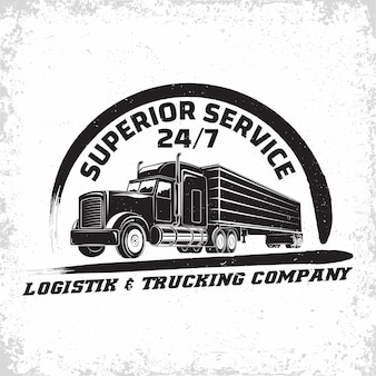 Trucking company illustration