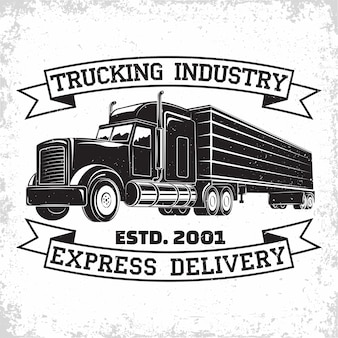 Trucking company logo design delivery firm print stamps