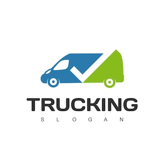 Trucking, expedition and logistic logo design template