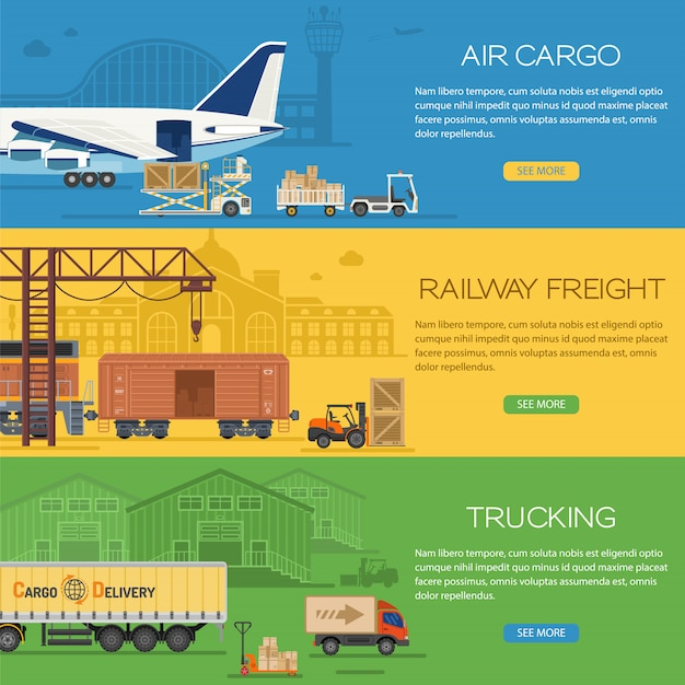 Trucking industry banners