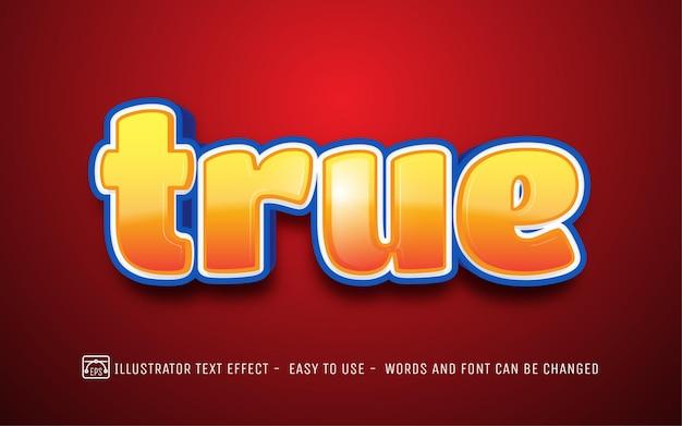 True - стиль редактируемого текстового эффекта