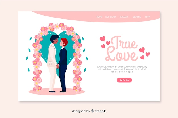 True love wedding landing page
