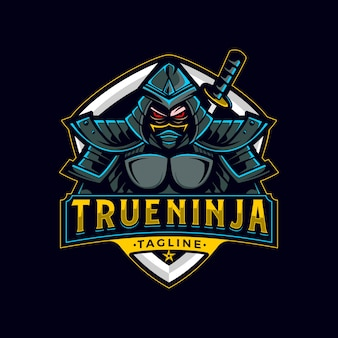 True ninja mascotロゴ