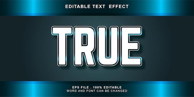 True text effect editable