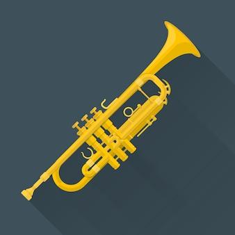 Trumpet on dark