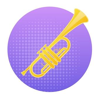 Trumpet icon wind music instrument concept