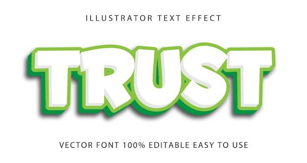 Trust   editable text effect