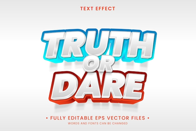 Truth or dare text effect