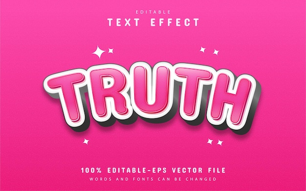 Truth text effect