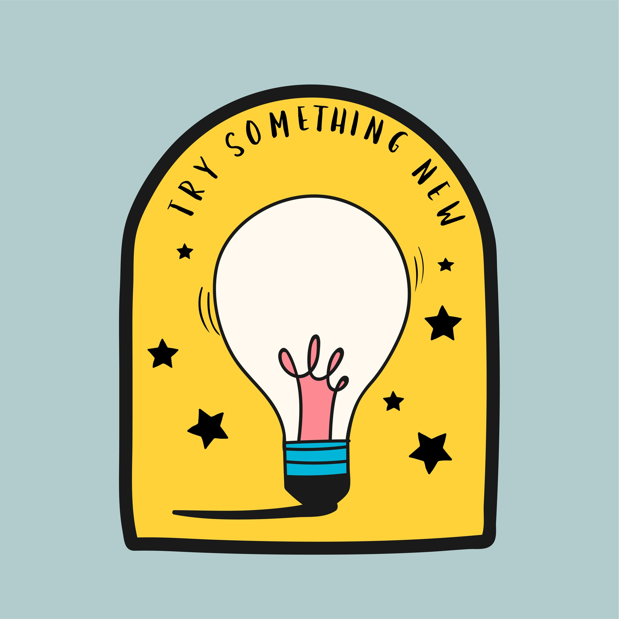 Try something new quote illustration