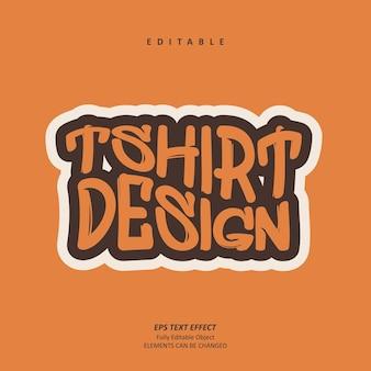 Tshirt design personalized grafitti text effect editable premium premium vector