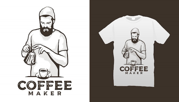 Кофеварка tshirt design