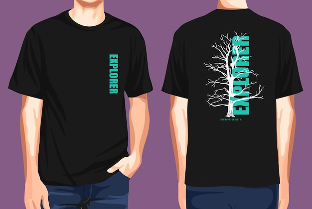 Tshirt front and back  explorer