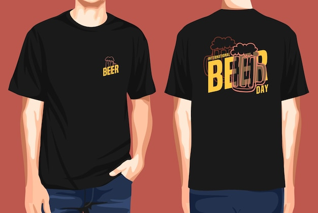 Tshirt front and back  international beer day