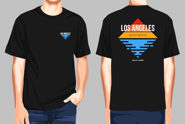 Tshirt front and back  los angeles