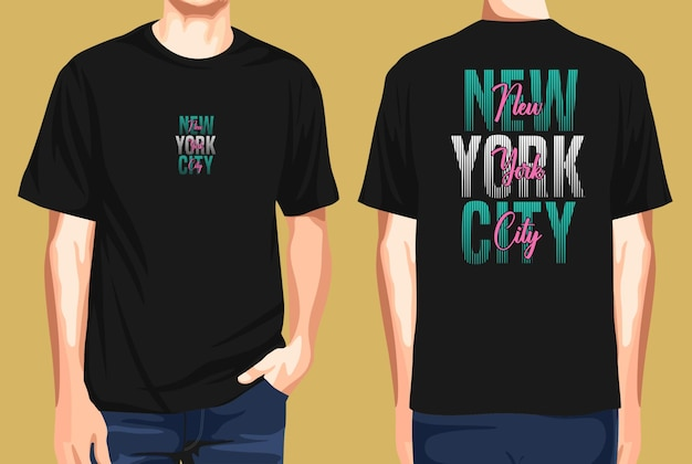 Tshirt front and back  new york city