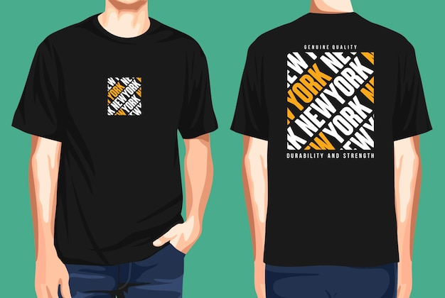 Tshirt front and back  newyork