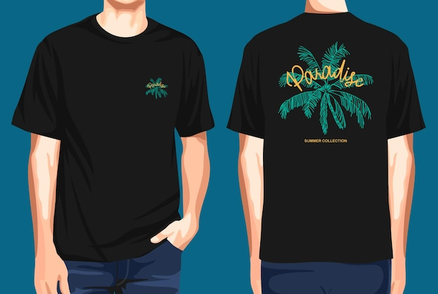 Tshirt front and back  paradise