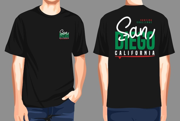 Tshirt front and back  san diego