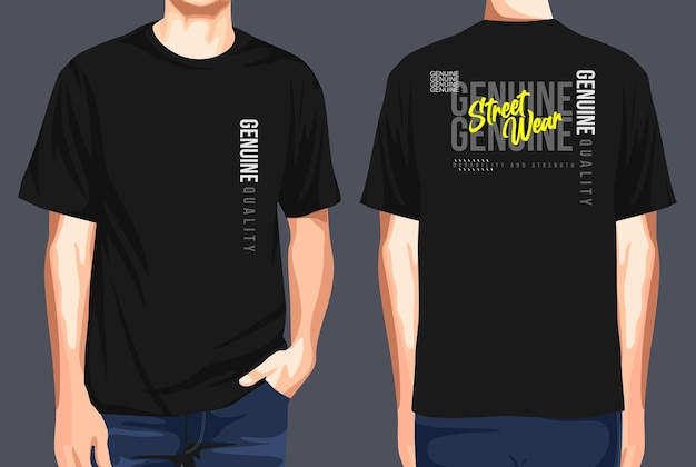 Tshirt front and back  street wear