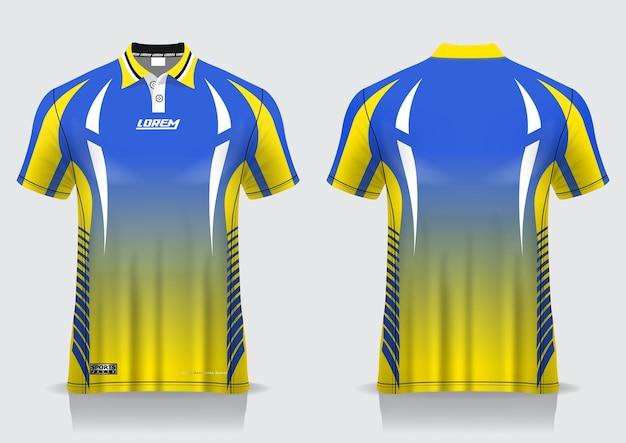 Tshirt polo   for uniform template