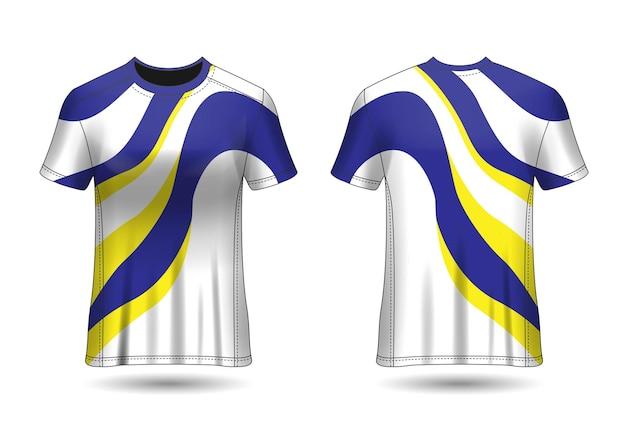 Футболка sport design гоночная футболка для клубной формы, вид спереди и сзади