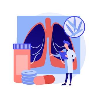 결핵 추상적 인 개념 벡터 일러스트입니다. 세계 결핵의 날, 마이코 박테리아 감염, 진단 및 치료, 전염성 폐 질환, 전염성 감염 추상 은유.