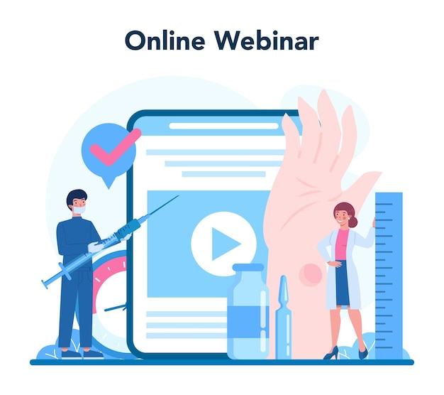 Tuberculosis specialist online service or platform. human pulmonary system. idea of health and medical treatment. online webinar. vector illustration