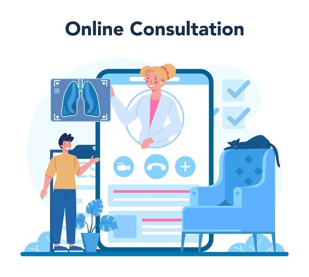 Tuberculosis specialist online service or platform illustration