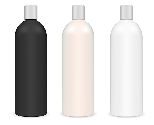 Tubular cosmetic shampoo bottle. cylinder package