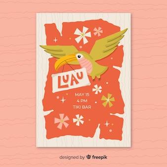 Шаблон плаката tucan luau
