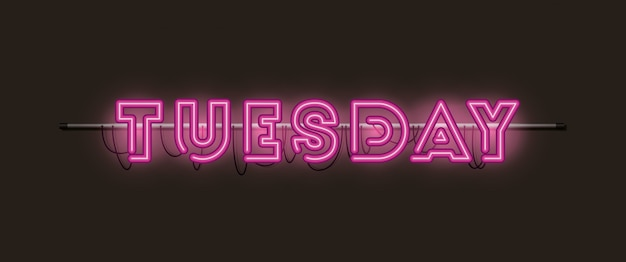 Tuesday fonts neon lights