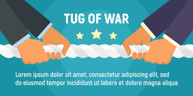 Tug of war banner