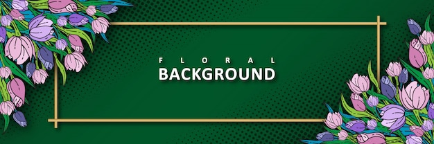 Tulip floral background template