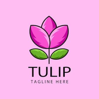チューリップのロゴのテンプレートデザイン