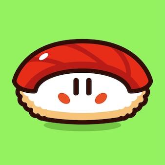 Tuna sushi cartoon vector illustration