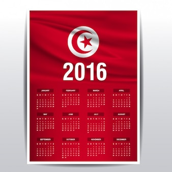 Tunisia il calendario del 2016