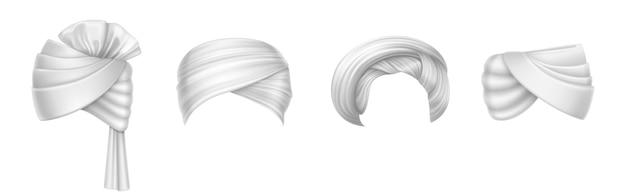 男性と女性のためのターバンのインドとアラブの頭飾り