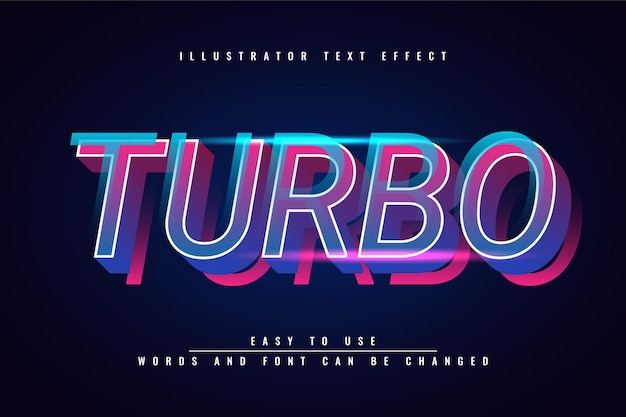 Turbo - редактируемый красочный текстовый эффект