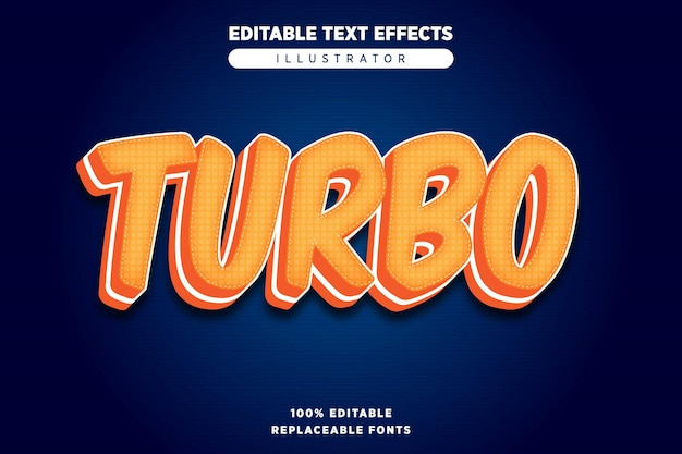 Turbo style text effect