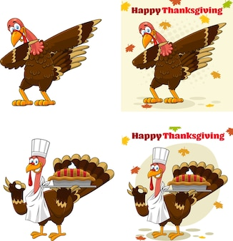 Турция птица талисман мультфильма