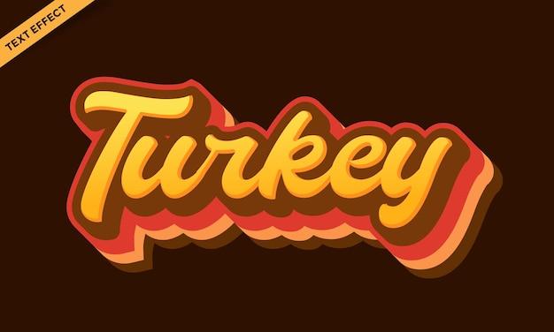Turkey bird text effect design