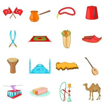 Turkey icons set