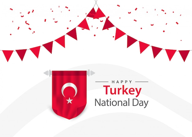 Turkey independence day template.