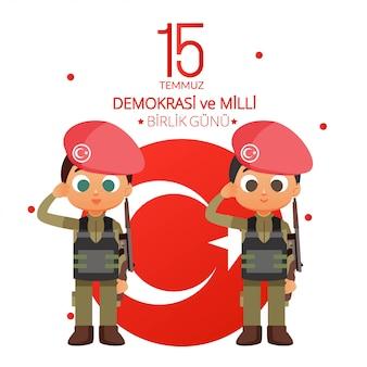 Turkey national day illustration