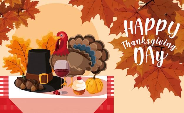 Турция с шляпой и значком паломника в таблице