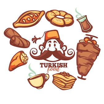 Turkish food set