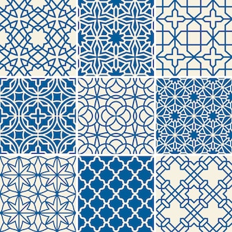 Turkish texture vector semless patterns