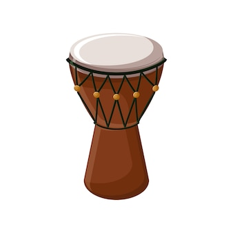 Turkish traditional drum isolated over white background.