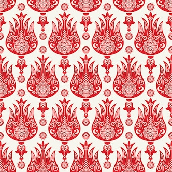 Turkish tulip seamless pattern